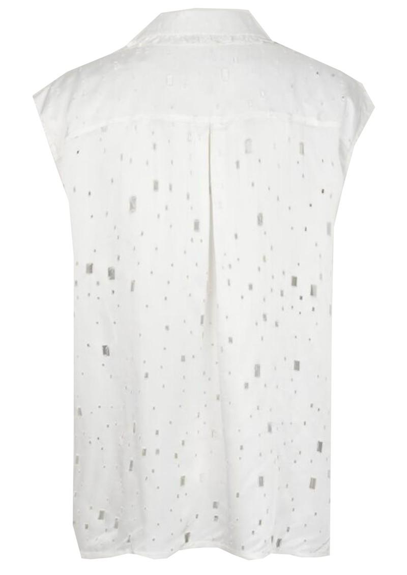 BAUM UND PFERDGARTEN Mukunda Sleeveless Shirt - Lacy White main image
