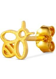 LULU COPENHAGEN Single Bzzzz Stud Earring - Gold