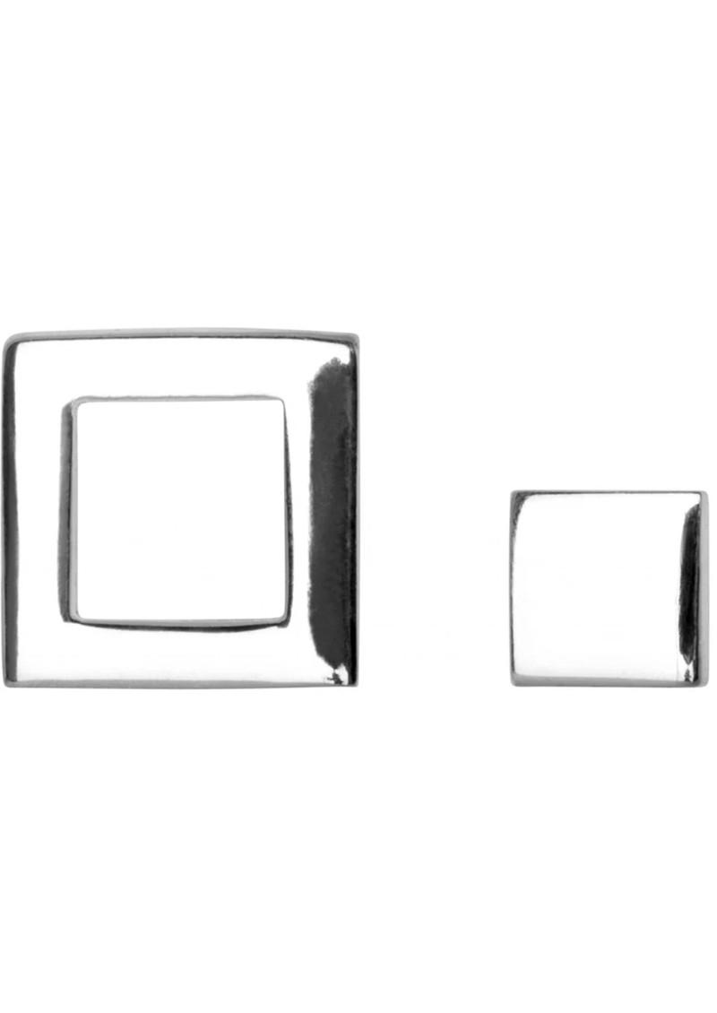 LULU COPENHAGEN Family Square Stud Earrings - Silver main image