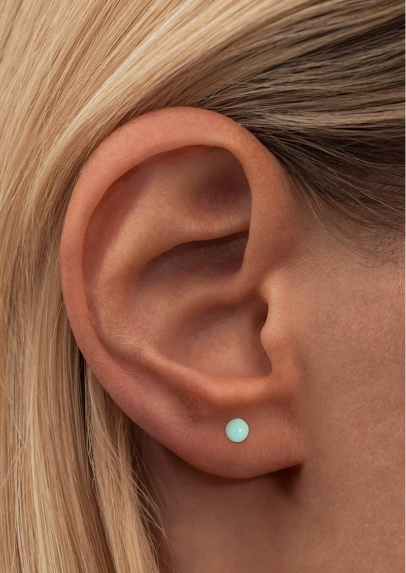 LULU COPENHAGEN Single Colour Ball Earring - Mint main image