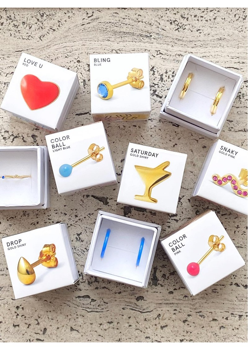 LULU COPENHAGEN Single Colour Ball Earring - Yellow main image