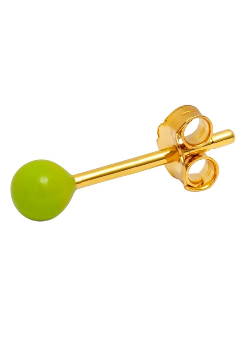 LULU COPENHAGEN Single Colour Ball Earring - Light Green main image