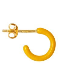 LULU COPENHAGEN Single Colour Enamel Hoop - Yellow