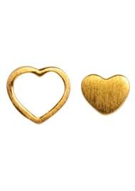 LULU COPENHAGEN Family Love Stud Earrings - Gold