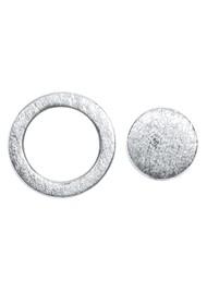 LULU COPENHAGEN Family Round Stud Earrings - Silver