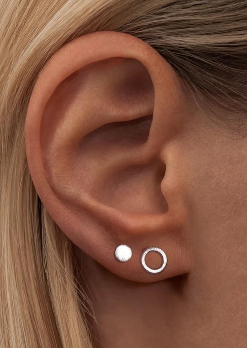 LULU COPENHAGEN Family Round Stud Earrings - Silver main image