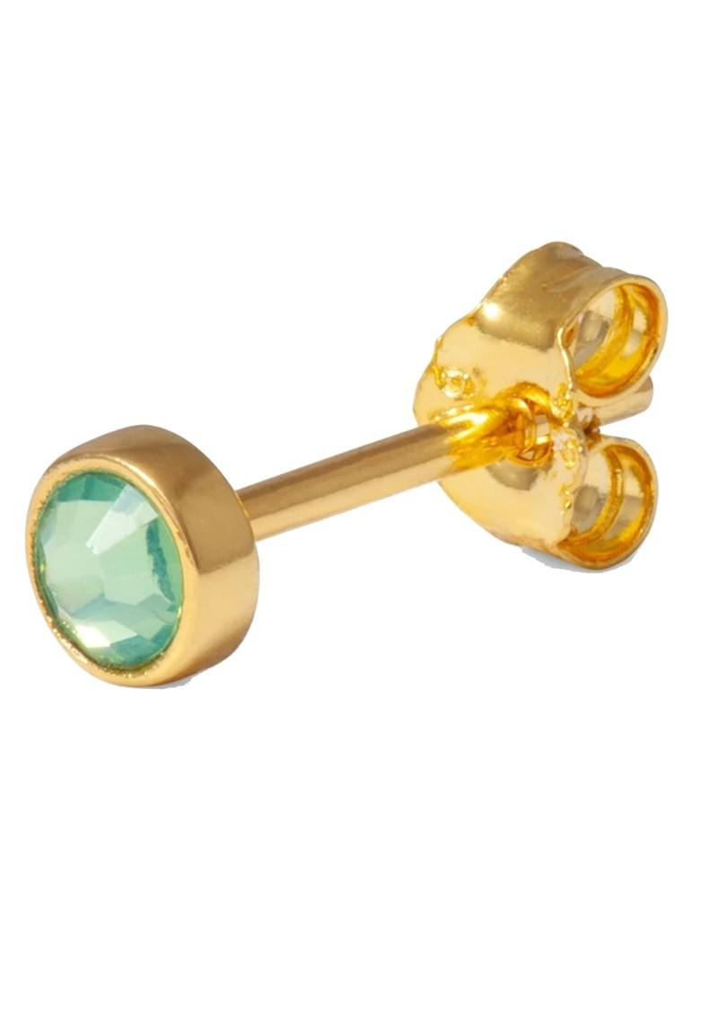 LULU COPENHAGEN Bling Single Crystal Earring - Light Green main image