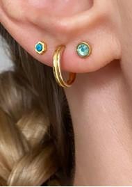 LULU COPENHAGEN Bling Single Crystal Earring - Light Green