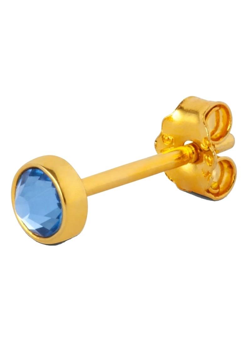 LULU COPENHAGEN Bling Single Crystal Earring - Blue main image