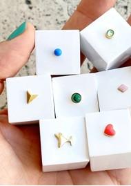 LULU COPENHAGEN Bling Single Crystal Earring - Pacific Opal