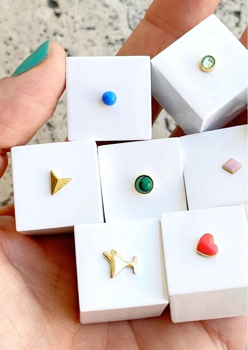LULU COPENHAGEN Bling Single Crystal Earring - Pacific Opal main image