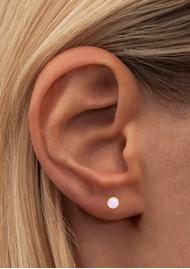 LULU COPENHAGEN Bling Single Crystal Earring - Rose Opal
