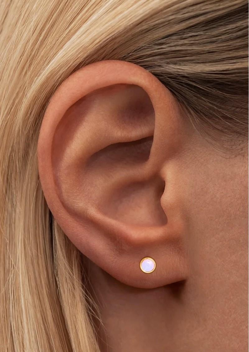LULU COPENHAGEN Bling Single Crystal Earring - Rose Opal main image
