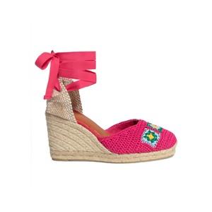 Camelia Crochet Wedge Sandal - Multi
