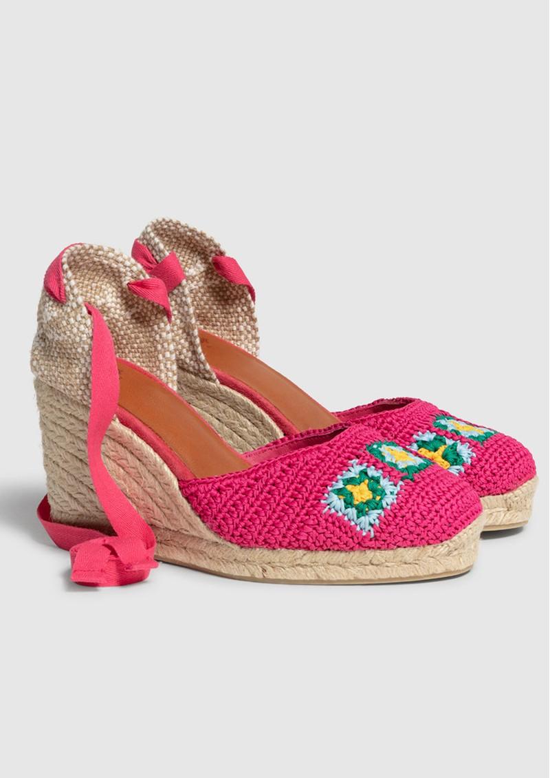 CASTANER Camelia Crochet Wedge Sandal - Multi main image