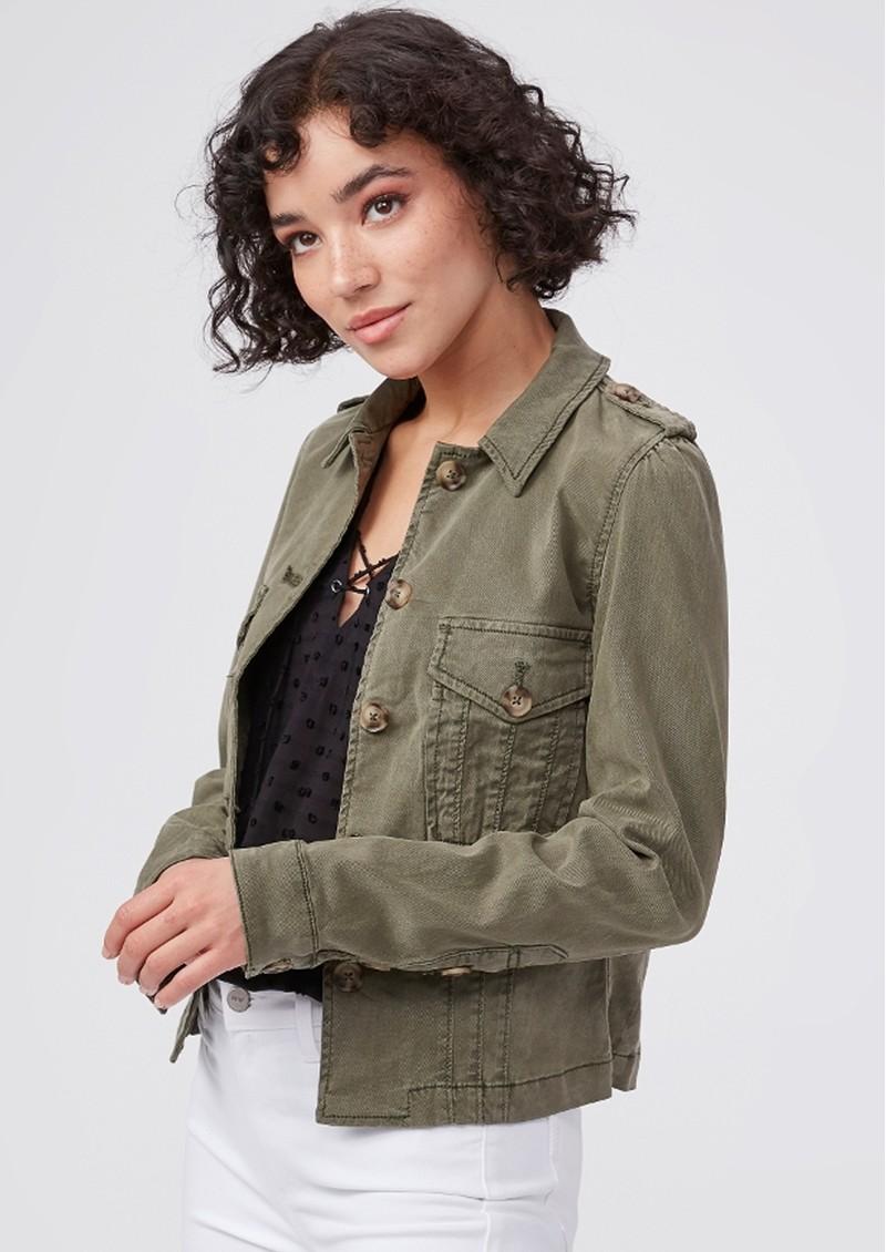 Paige Denim Pacey Jacket - Vintage Ivy Green main image