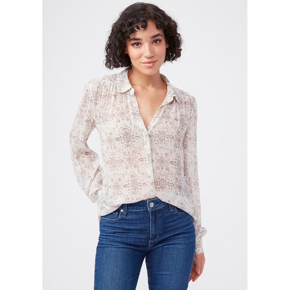 Maryanne Silk Shirt - Ecru Multi