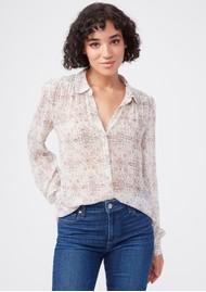 Paige Denim Maryanne Silk Shirt - Ecru Multi