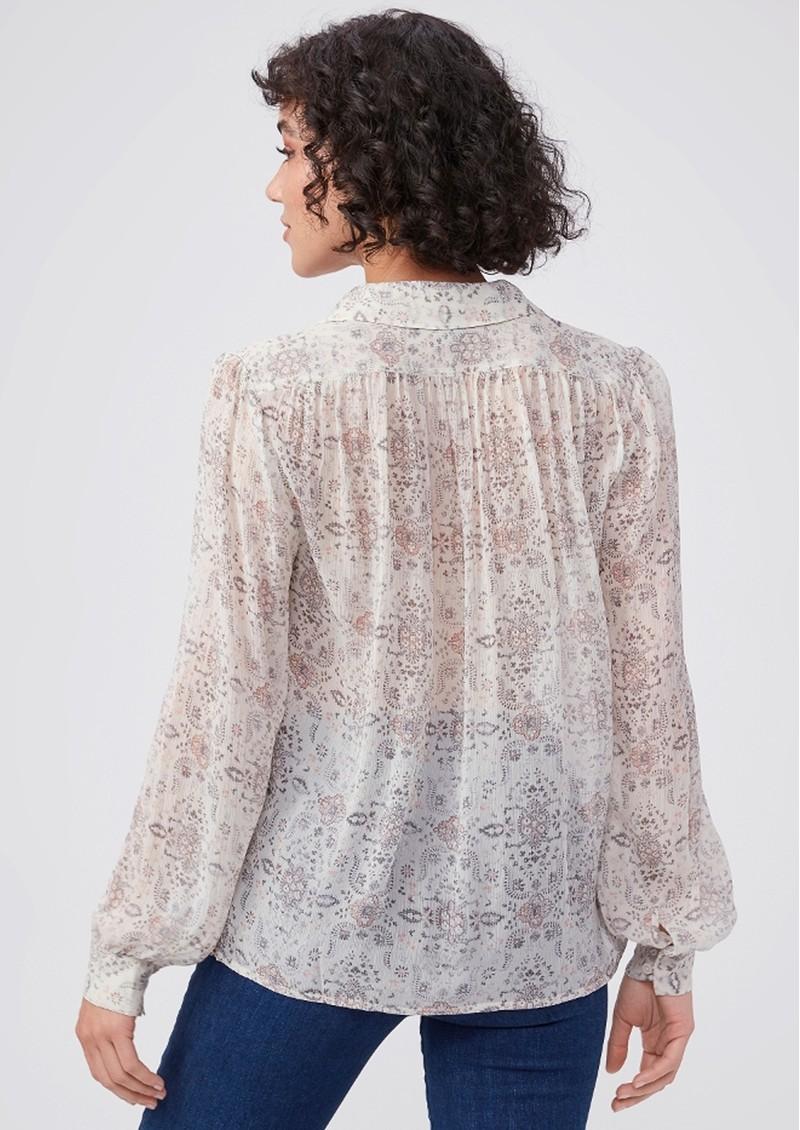 Paige Denim Maryanne Silk Shirt - Ecru Multi main image