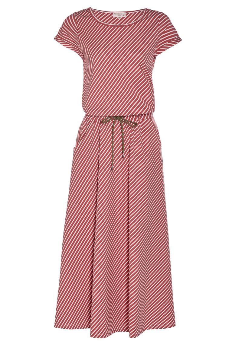 NOOKI Kamie Cotton Stripe Dress - Sienna main image
