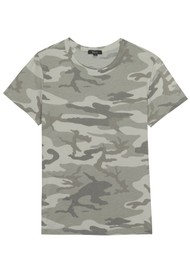 Rails The Fitted Crew Cotton Tee - Laurel Camo