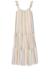 Rails Capri Linen Mix Dress - Melon Stripe
