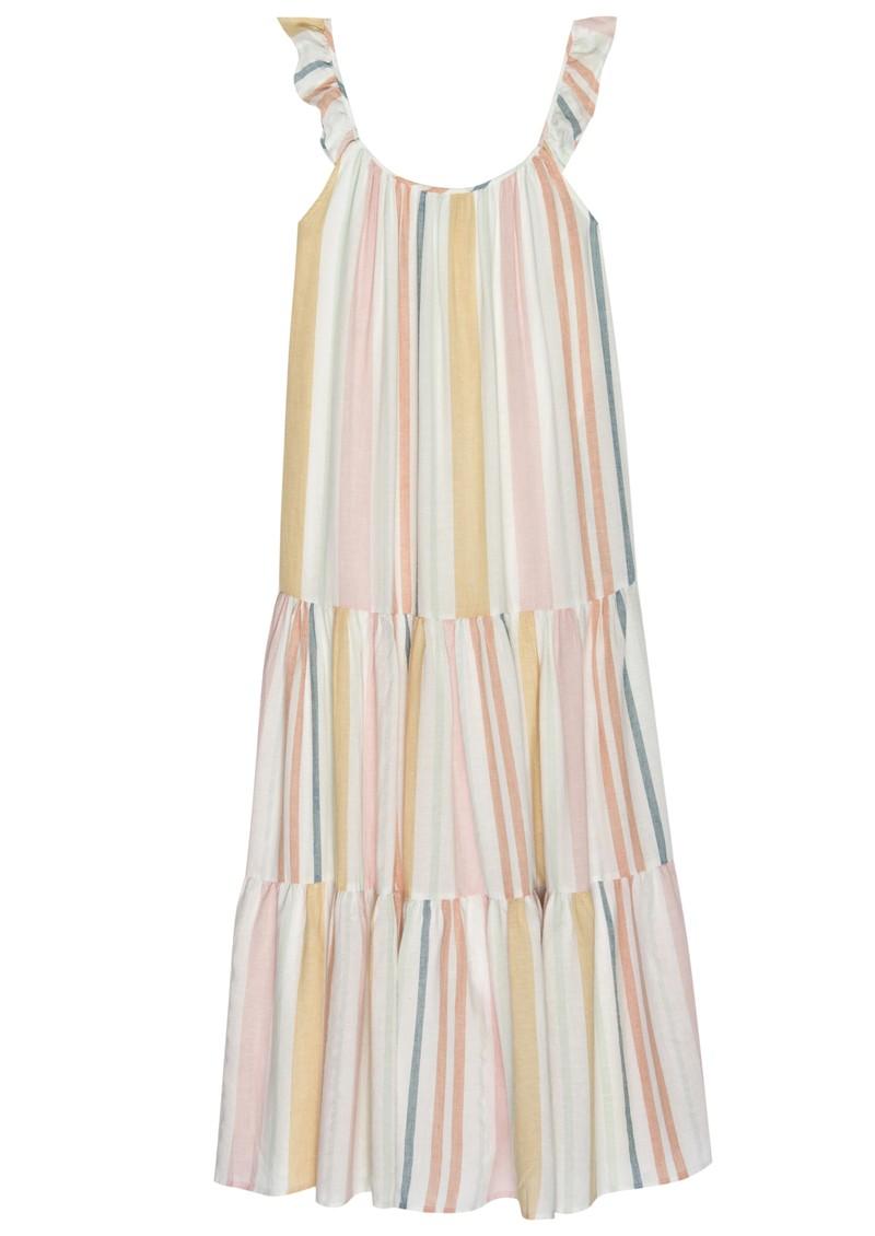 Rails Capri Linen Mix Dress - Melon Stripe main image