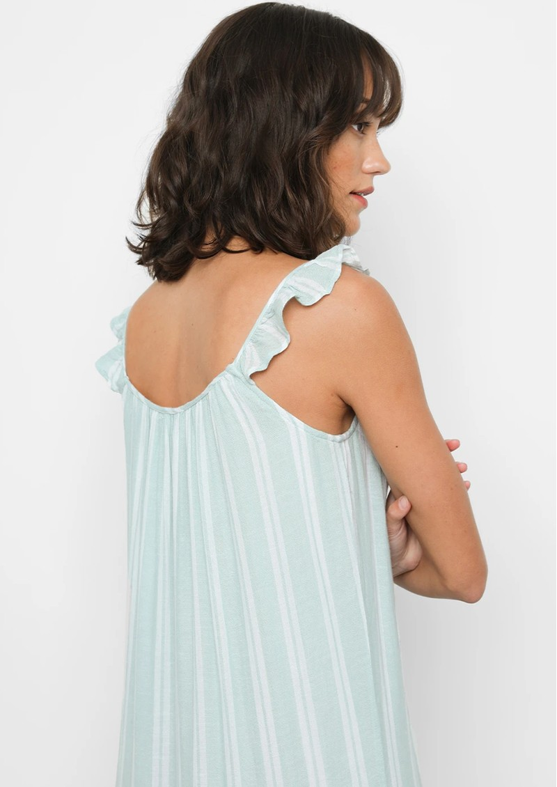 Rails Capri Linen Mix Dress - Juniper Stripe main image