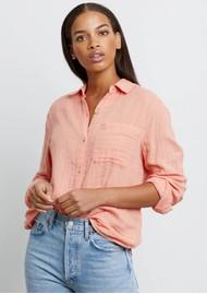Rails Ellis Cotton Shirt - Peach