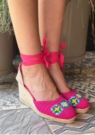CASTANER Camelia Crochet Wedge Sandal - Multi