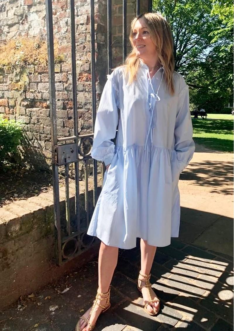 RESUME Elena Cotton Dress - Light Blue main image