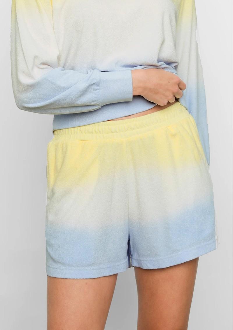 Rails Jane Cotton Shorts - Sky Blue Dip Dye main image