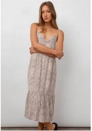 Rails Delilah Linen Mix Dress - Sand Cheetah