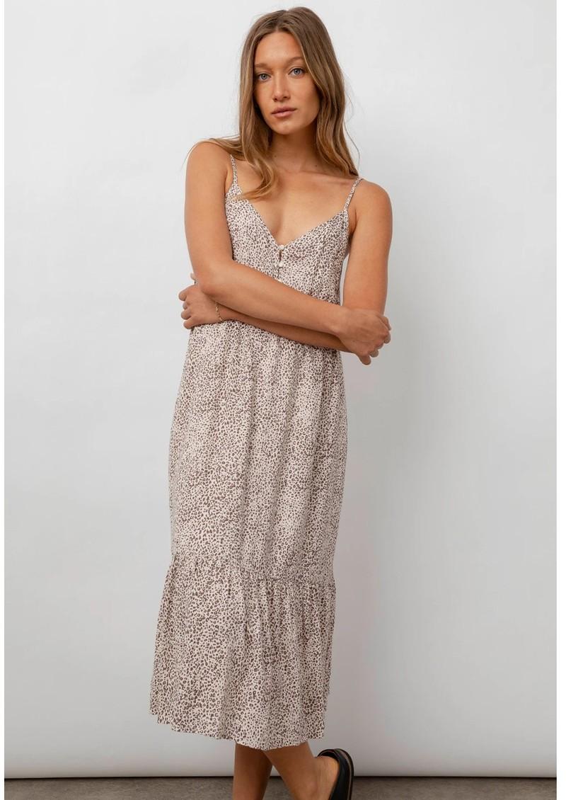 Rails Delilah Linen Mix Dress - Sand Cheetah main image