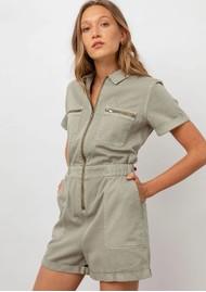 Rails Effie Cotton Mix Playsuit -Seagrass