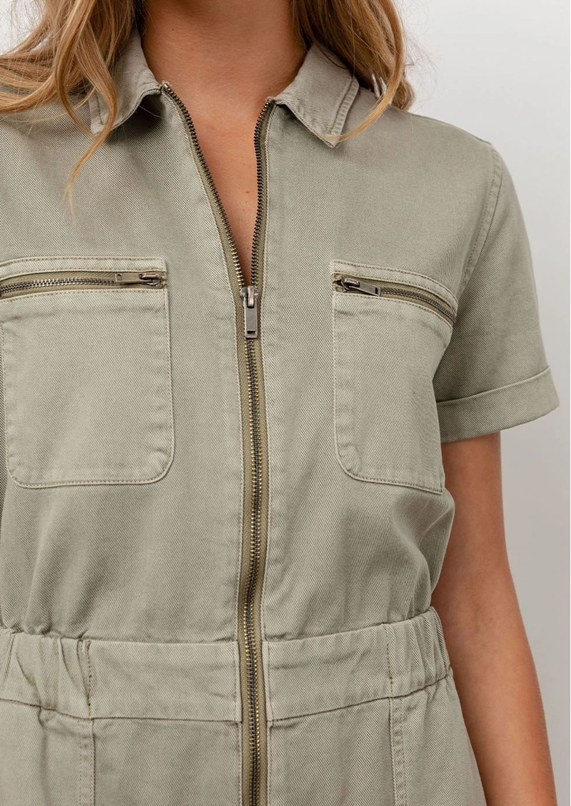 Rails Effie Cotton Mix Playsuit -Seagrass main image