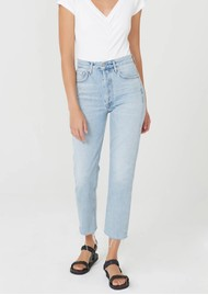 CITIZENS OF HUMANITY Charlotte High Rise Straight Leg Cropped Raw Hem Jeans - Ever After