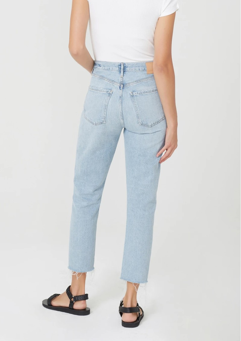 CITIZENS OF HUMANITY Charlotte High Rise Straight Leg Cropped Raw Hem Jeans - Ever After main image