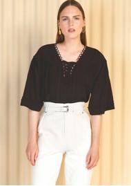 MAGALI PASCAL Celeste Cotton Blouse - Black