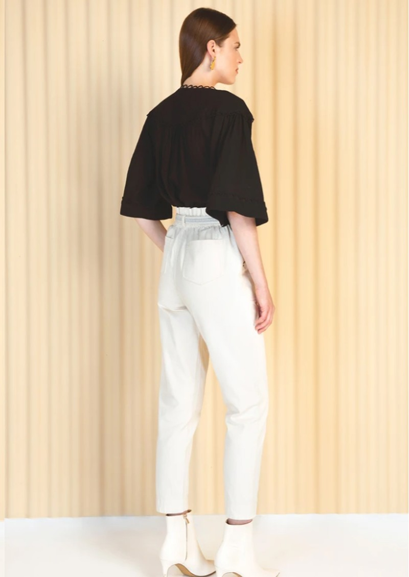 MAGALI PASCAL Celeste Cotton Blouse - Black main image