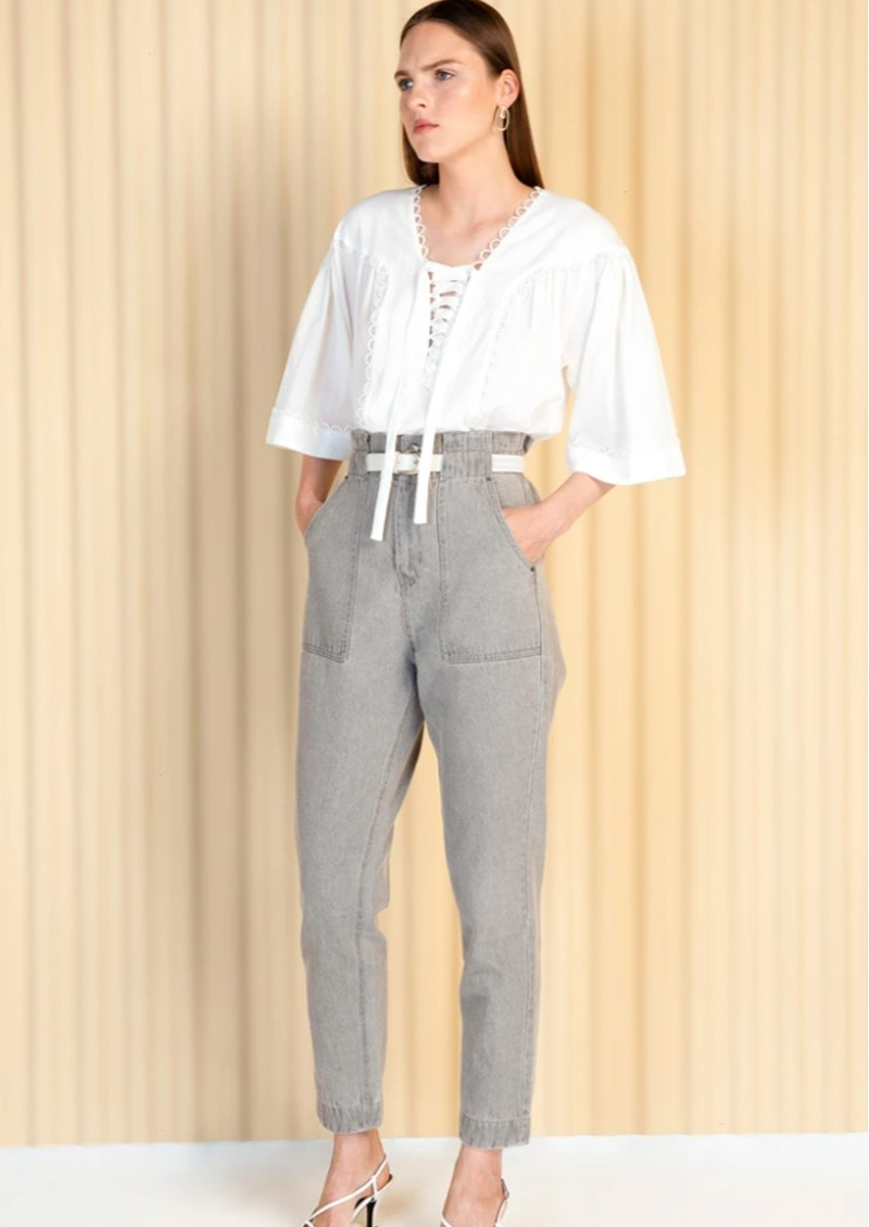 MAGALI PASCAL Celeste Cotton Blouse - Off White main image