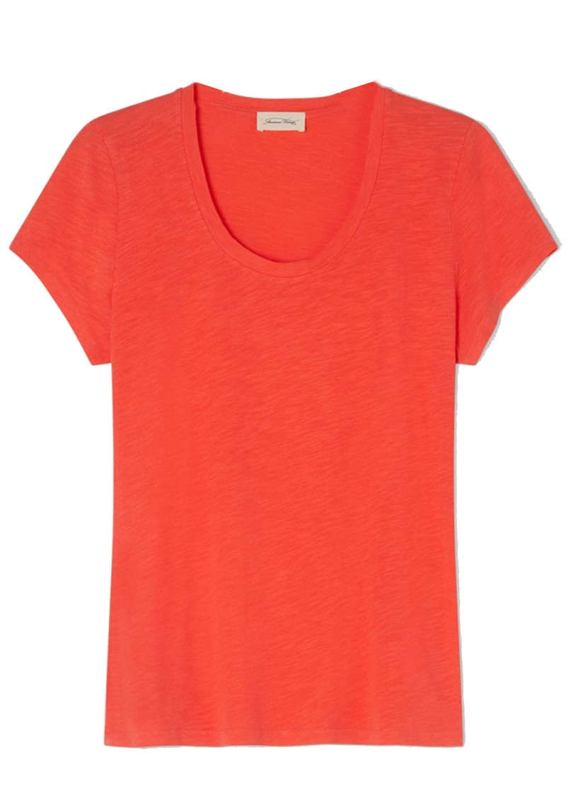 American Vintage Jacksonville U Neck Short Sleeve T-Shirt - Vintage Orange main image