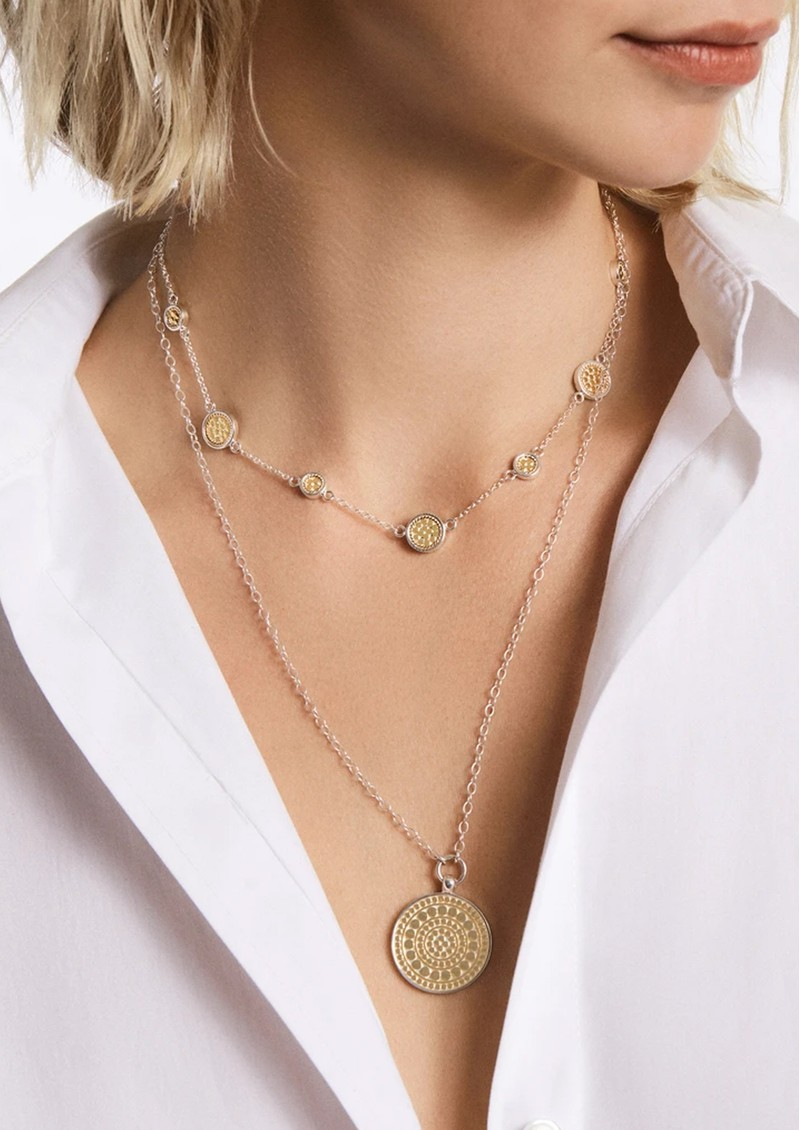 ANNA BECK Classic Station Necklace - Gold & Silver main image