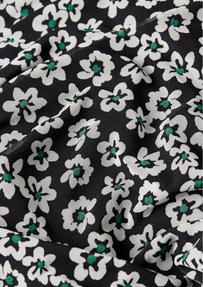 FABIENNE CHAPOT Marie Mesh Top - Black & Emerald main image