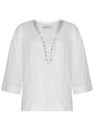 MAGALI PASCAL Celeste Cotton Blouse - Off White