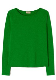 American Vintage Sonoma Long Sleeve Top - Grass