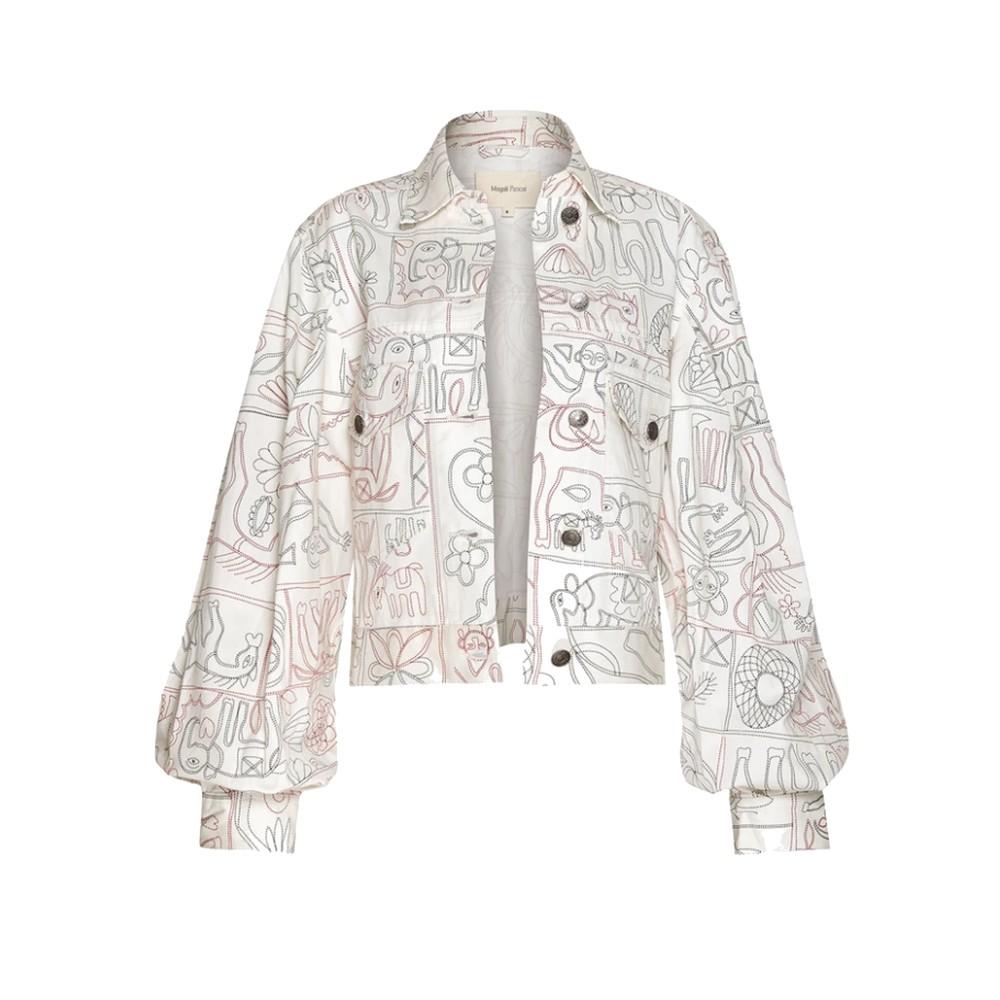 Jasper Denim Printed Jacket - Jibana