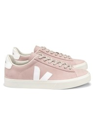 VEJA Campo Nubuck Leather Trainers - Babe White