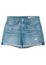 RAG & BONE Maya High Rise Shorty Denim Shorts - Jones
