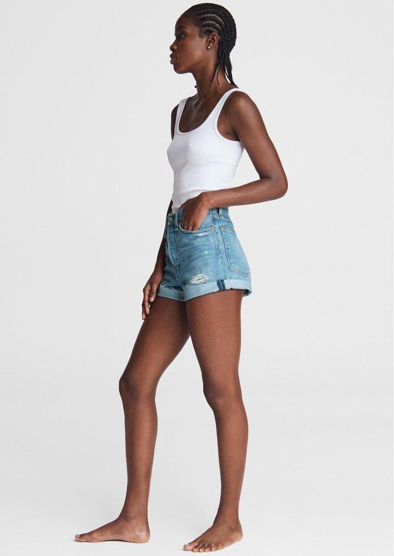 RAG & BONE Maya High Rise Shorty Denim Shorts - Jones main image